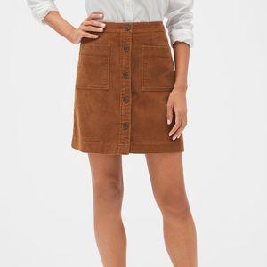 NWT GapFactory Corduroy Skirt